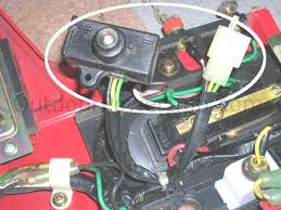 descriptions photos and diagrams of low oil shutdown systems on honda low oil shutdown sensor and indicator light