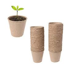 Biodegradable Paper With Flower Seeds Amazon Com Simdoc Peat Pots Pack Of 50 Plant Starters Seed