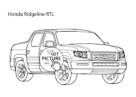 Small Picture car Honda Ridgeline coloring page cool car printable free