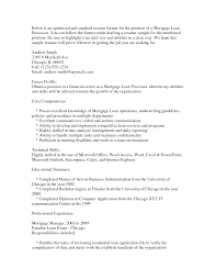 Formidable Mortgage Processor Resume About 25 Excellent Loan
