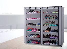 full size of closetmaid shoe organizer white 25 pair canada 6 layer boot rack storage wardrobe