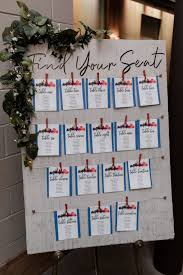 Wedding Reception Seating Chart For An Industrial Chic Theme