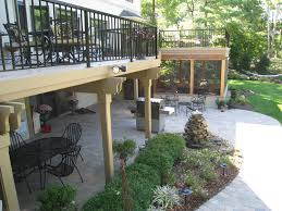 paver patio with deck. Delighful Deck Archadeck Of Columbus Scores A Tripleplay On This Screen Porch Patio And  Deck Combination With Paver Patio Deck