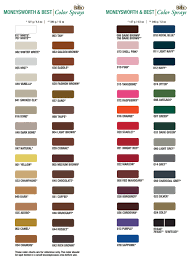 Best Color Palette For Charts Moneysworth Best Cream Brillo Spray Color Chart