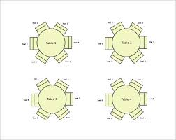 round table wedding seating free word template