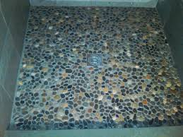 how to tile a shower floor using river rock gentlemint alive amazing 10