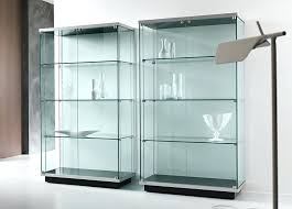 small glass cabinet glass small curio cabinet with glass doors