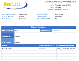 Word Template Minutes Corporate Minutes Template Word 6 Guatemalago