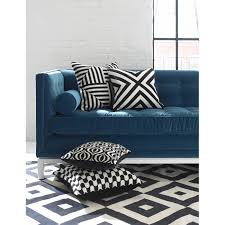 black and white waves throw pillow  modern décor  pillows