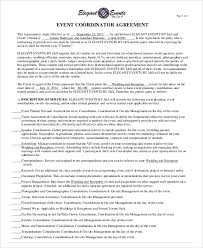 event agreement contract sample event contract agreement 8 examples in word pdf