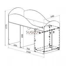 <b>Кровать</b>-чердак Маугли <b>МДМ</b>-<b>2К</b> - купить по лучшей цене 12795 ...