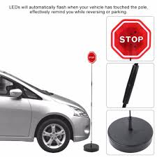 Garage Door Stop Light Safety Parking Stop Sign Flashing Led Light Warning Bumper Sensor For Garage Port