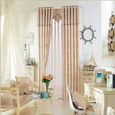 Polyester Privacy Nautical Printed Seashell Pattern Curtain For Kids Bedroom