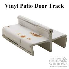 vinyl patio glass door track white discontinued