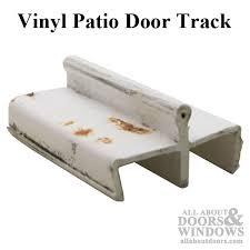 vinyl patio glass door track white discontinued
