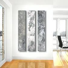 gray wall art metallic abstract paintings 3 panel custom abstract wall art home decor yellow and gray wall art