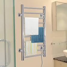 towel warmer rack. HomCom 10 Bar Stainless Steel Wall Mounted Electric Towel Warmer Rack