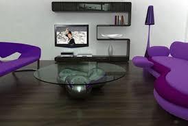 Living Room Purple 398 Contemporary White Sofa Snug Living Space Purple Living Room