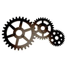 Industrial Wall Decor Bronze Industrial Gears Wall Decor 10 X 20 In At Home