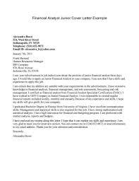 Resume Cover Letter Examples Finance Cover Letter