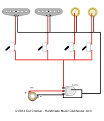 84 best guitar wiring diagrams images on pinterest guitar Emerson Pre Wired 5 Way Strat Switch Wiring Diagram 2 single coils, 2 piezos, 1 vol, 4 mini on off switches