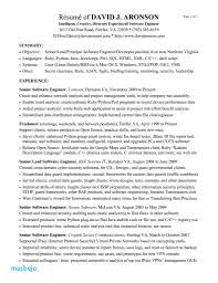 Resume Summary Examples For Software Developer Resume Samples For