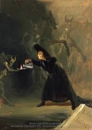 francisco de goya a scene from the forcibly bewitched oil painting reion