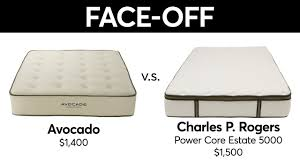 charles p rogers mattress. Exellent Mattress Mattress FaceOff Charles P Rogers Vs Avocado  Consumer Reports And P R