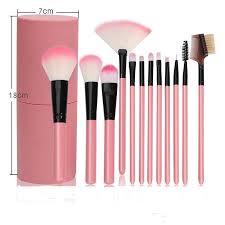 details about uk 12 pcs professional make up brushes set makeup kit beginner round barrel