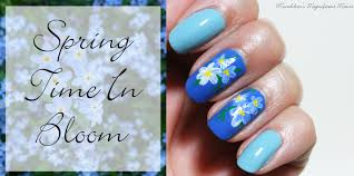 Blue Flower Nail Designs Munchkins Magnificent Manis Spring In Bloom Flower Nail