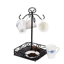 Coffee Cup Display Stands Impressive Amazon VANRA Steel Coffee Mug Holder 32 Hook Kitchen Stand