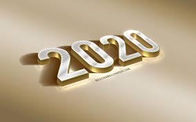 2020 Year Concepts, 3d Golden Letters ...