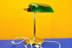 Bankers Lamp Desk Lamp Green Glass Shade