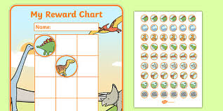 Free Dinosaur Sticker Reward Chart 30mm Dinosaur
