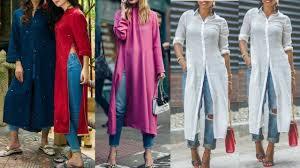 Kurta Designs To Wear With Jeans Latest Kurti Kurta With Jeans Designs 2018 Latest Kurti