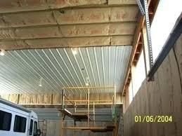 pole barn ceiling corrugated metal ceiling installation installing in pole barn metal ceiling panels