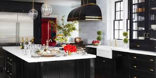 Image Marble 10 Black Kitchen Cabinet Ideas For Stylish Cooks House Beautiful 10 Black Kitchen Cabinet Ideas Black Cabinetry And Cupboards
