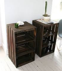 wooden crates furniture. wood crate handmade table furniture nightstand by camillemdesigns wooden crates