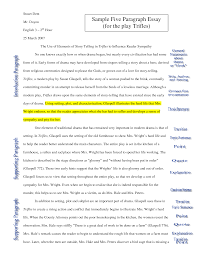 sample paragraph essay co sample 5 paragraph essay
