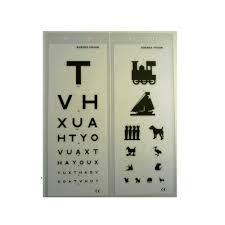 Eye Side Test Chart Eye Test Charts Double Sided 3m
