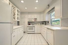 Small Picture Brilliant White Kitchen Cabinets With Appliances And Gray