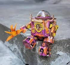 <b>Деревянный 3D конструктор Robotime</b> Музыкальный робот ...