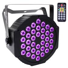 Black Light With Remote U King Black Lights 2w X 36 Uv Led Black Light With Remote For Blacklight Glow Party Bars Body Paint Stage Lighting Glow In The Dark Supplies