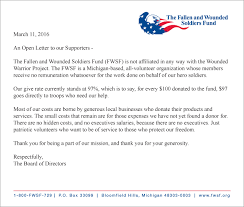 Thank You Letter For Donations Mesmerizing The Fallen And Wounded Soldiers Fund FWSF Contact Us