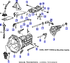 how many bolts secure the transmission on a 2003 ford ranger Ford Standard Transmission Diagrams Ford Standard Transmission Diagrams #3 Ford 5 Speed Transmission Diagram
