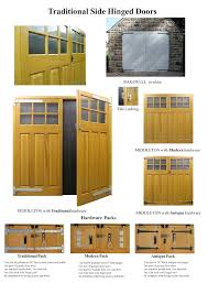 timber side hinged garage door details