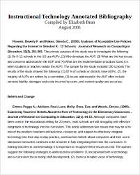Annotated Bibliography Template 16 Annotated Bibliography Template Pdf Examples