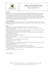 Housekeeping Attendant Job Description For Resumeupervisor Ppt