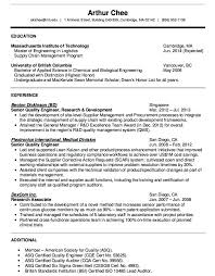 Resume Format Template Custom Quality Engineer Resume Format Quality Engineer Resume Sample