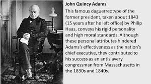 Image result for john quincy adams 1843 photo